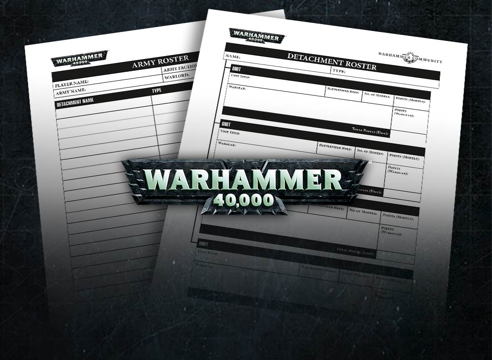 A Downloadable Warhammer 40,000 Army Roster - Warhammer Community