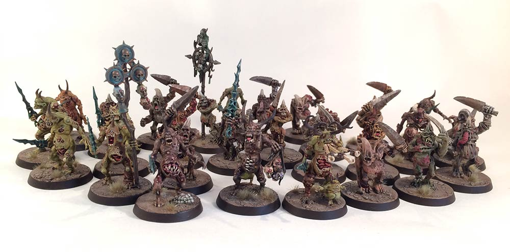10 modèles Warhammer 40k Death guard poxwalkers Chaos Space Marines