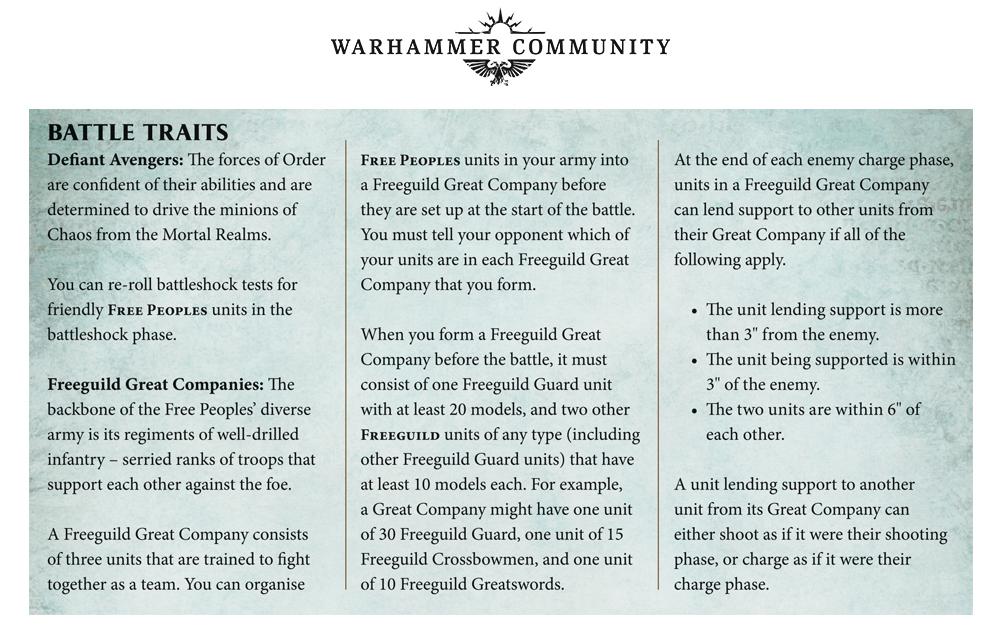 Reece's Free Peoples - Warhammer Community