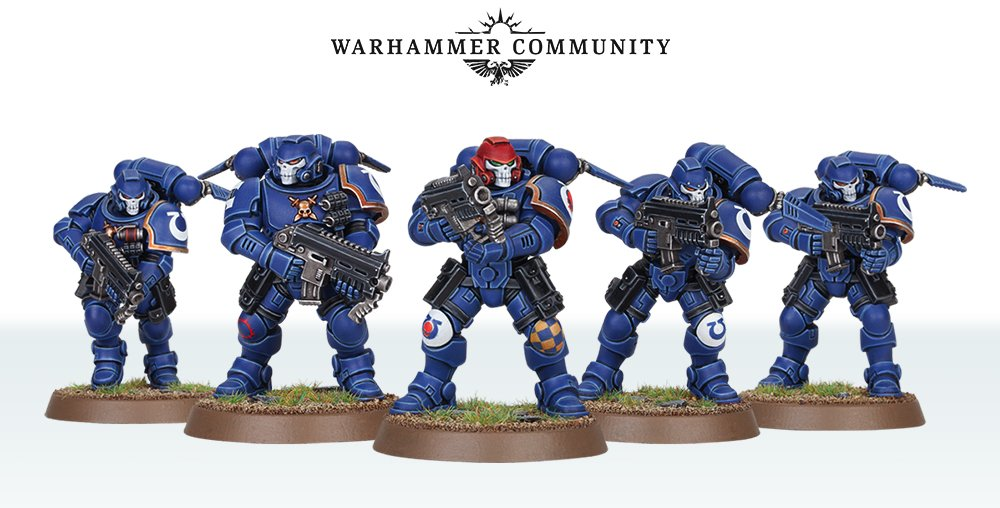 Warhammer 40k Space Marine Primaris Hellblasters Combat Squad of 5
