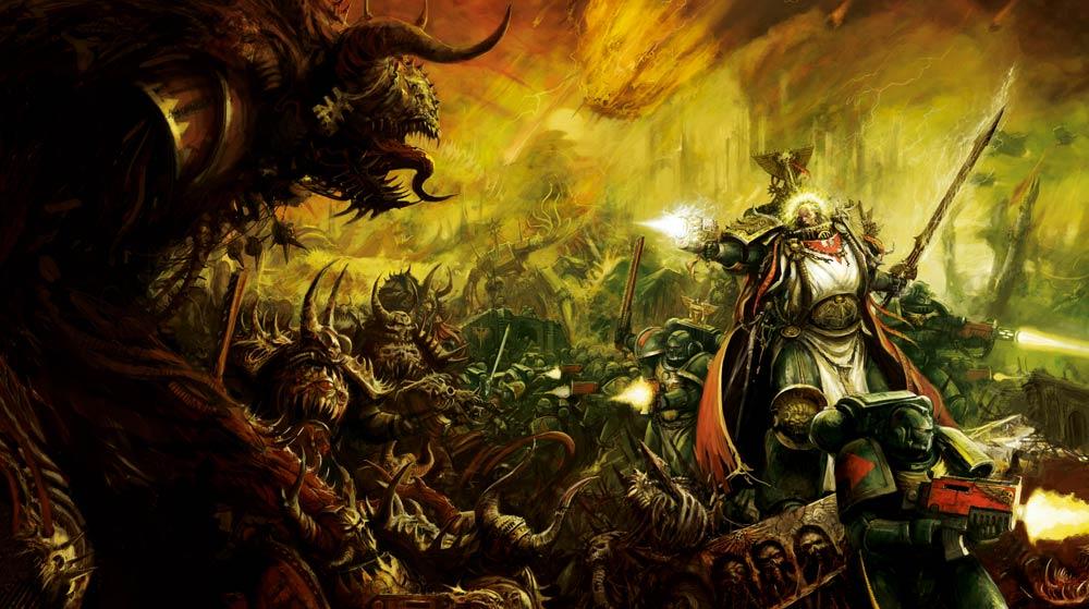 Resultado de imagen de dark angels warhammer art