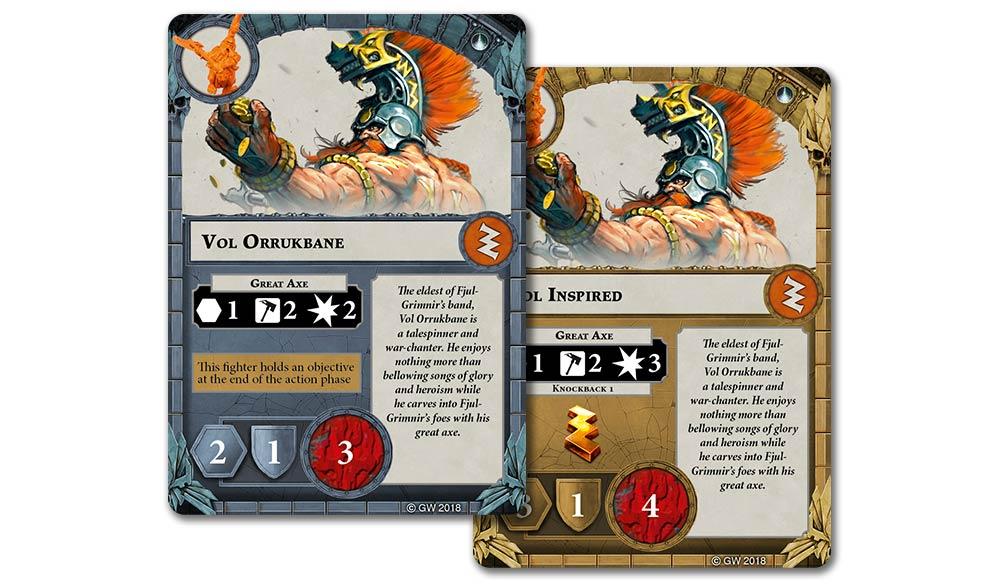 Warhammer Age of Sigmar Fyreslayers Fyreslayers  Warscroll Cards