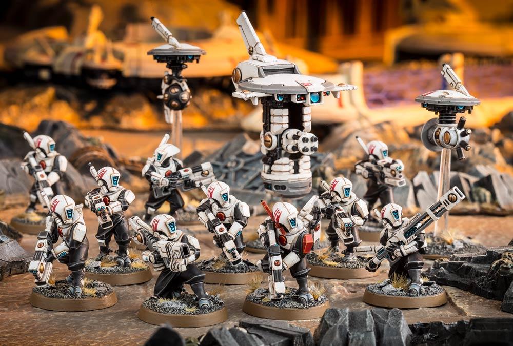 X10 Fire Warriors Strike Brècheur Team x2 drones tourelle Tau Empire warhammer 40k