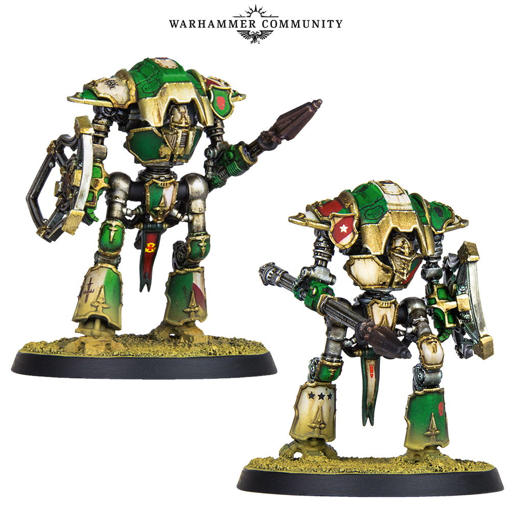 Adeptus Titanicus: New Knights and Warlord Weapons