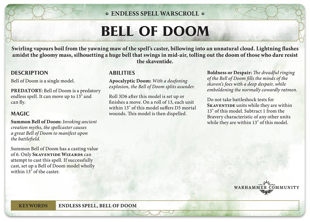 Chaos Battletome: Skaven – Endless Spells - Warhammer Community