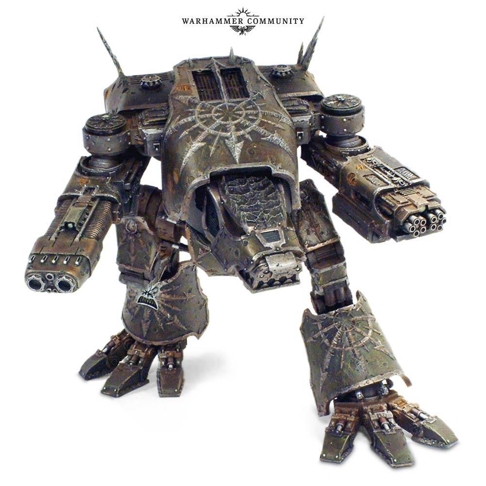 The Chaos Warhound Titan Marches Back to War - Warhammer