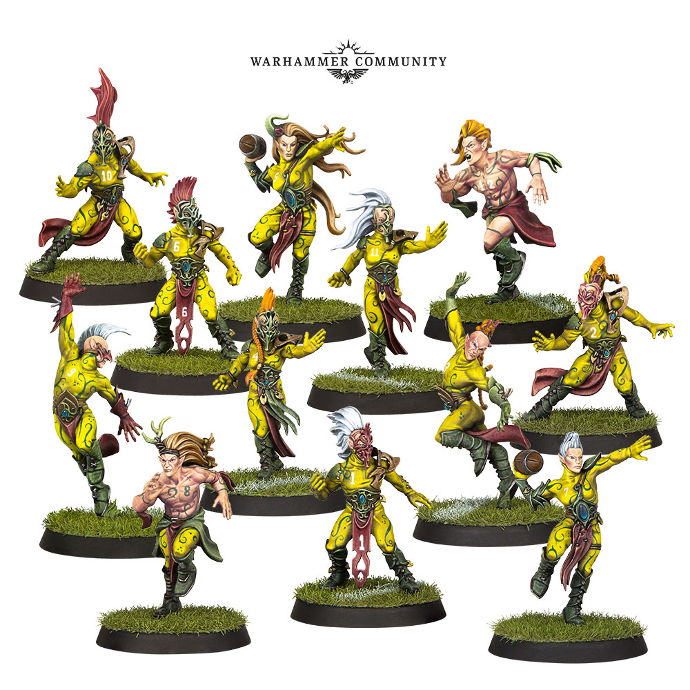 blood bowl wood elves team