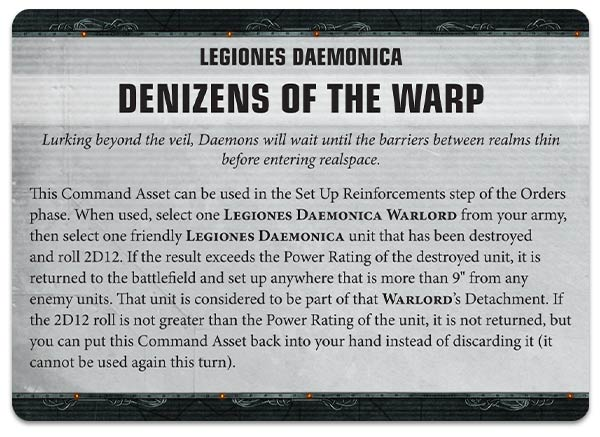 Warhammer 40000 Apocalypse Daemons of Chaos rules