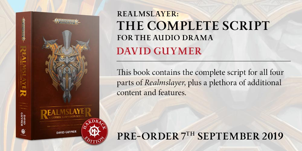 Programme des publications The Black Library 2019 - UK - Page 4 BLComingSoon-RealmslayerScriptHB