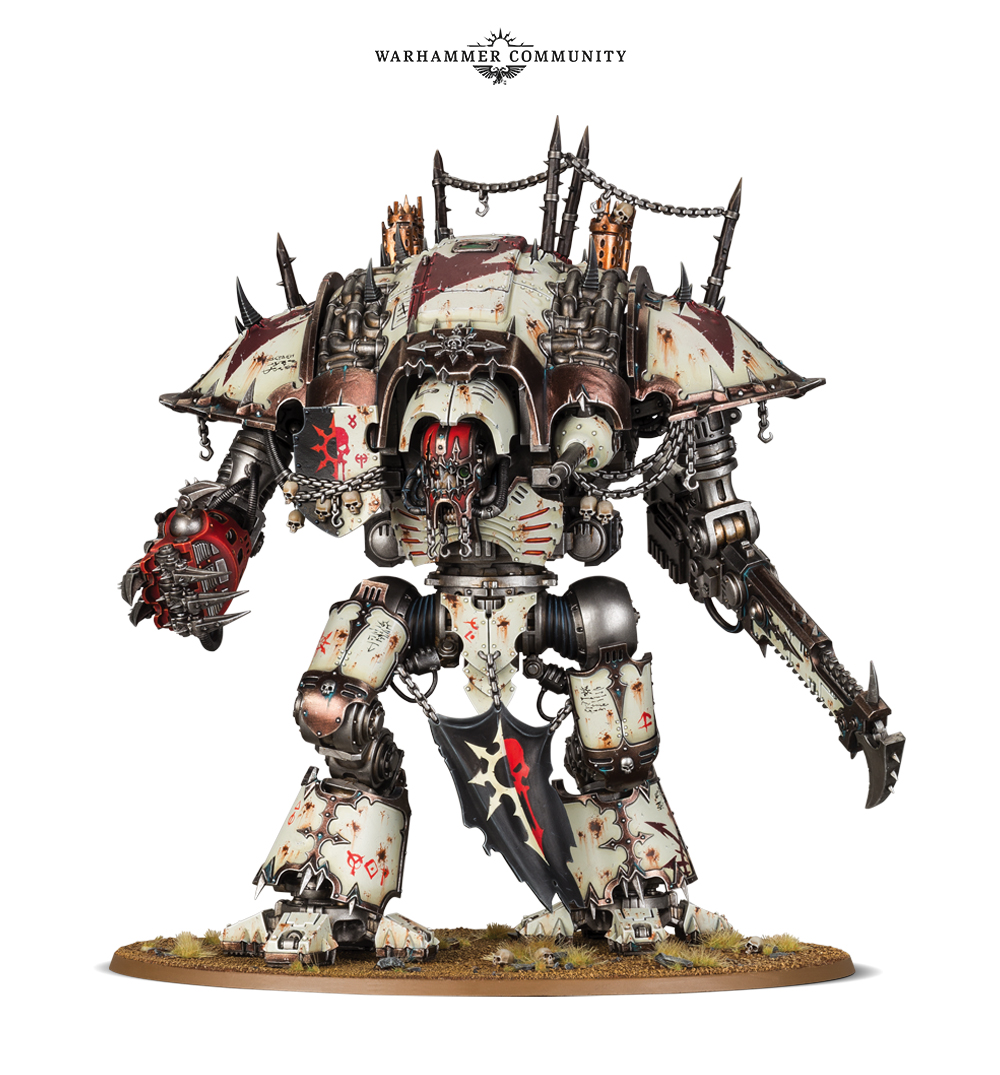 warhammer 40000 Chaos knight rules preview