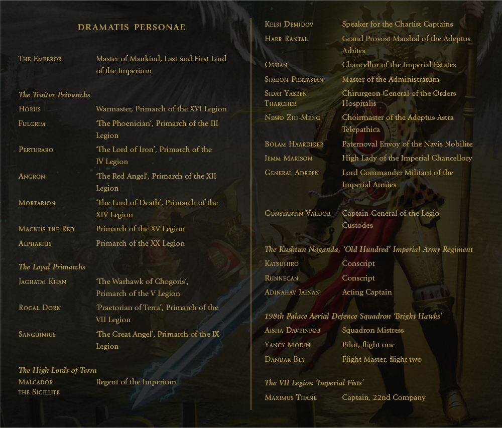 Programme des publications The Black Library 2019 - UK - Page 4 DramatusPersonae-image1