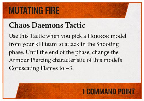 Warhammer 40,000: Kill Team – Chaos Daemons Tactica