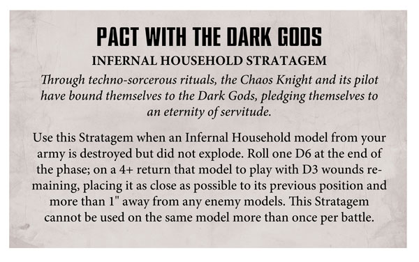 Chaos Knights - Iconoclast and Infernal Households