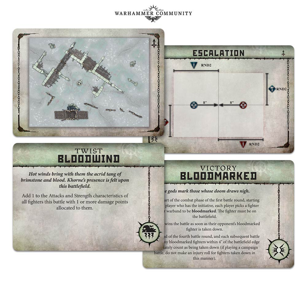 Warcry Scenary Tokens and battle plan cards- Warhammer AoS In Hand! rulebook