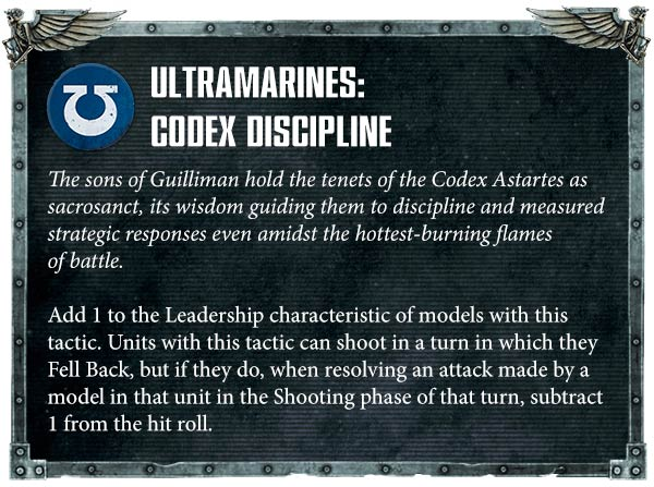 New Space Marines codex rules
