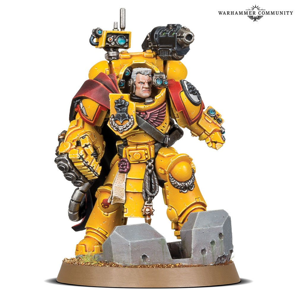 space marines warhammer 40000 imperial fist salamnder