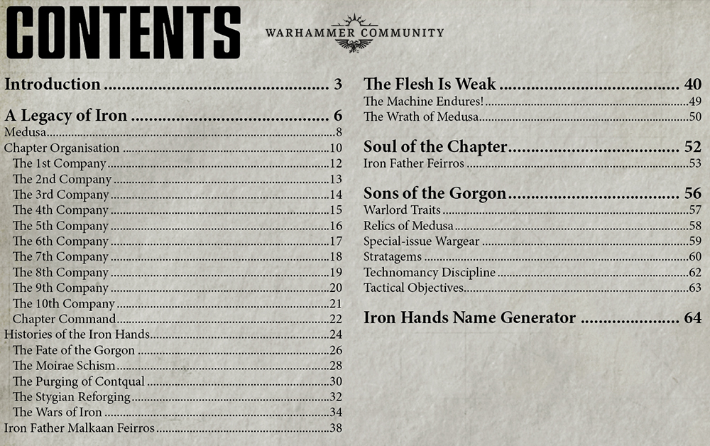 iron hands codex rules