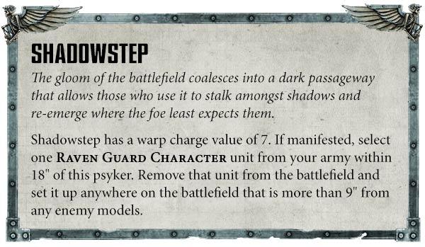 Raven Guard codex rules