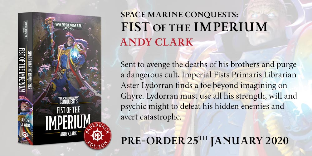 Programme des publications The Black Library 2019 - UK - Page 5 BLComingSoon-Jan2020-FistImperium_PB